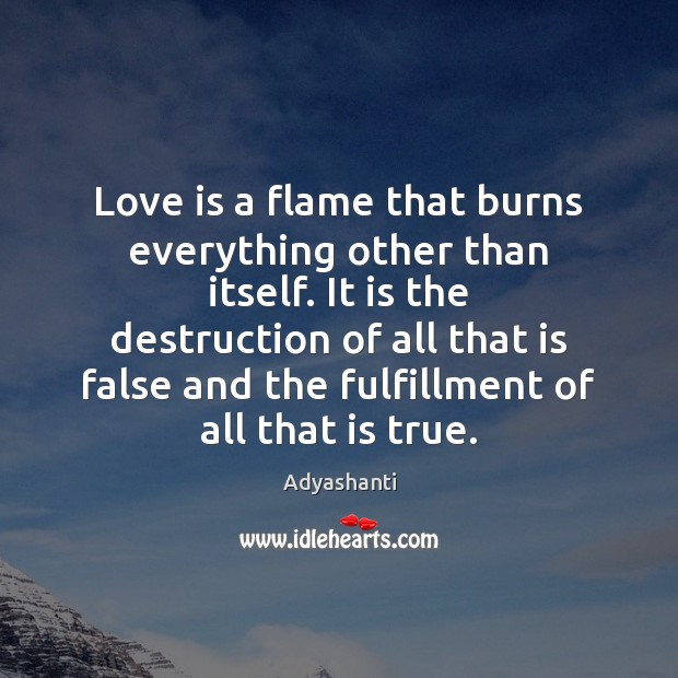 Image, Love is a flame that burns everything other than itself. It is