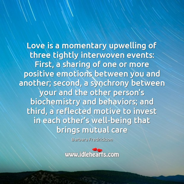 Image, Love is a momentary upwelling of three tightly interwoven events: First, a