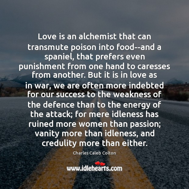 Love is an alchemist that can transmute poison into food–and a spaniel, Image