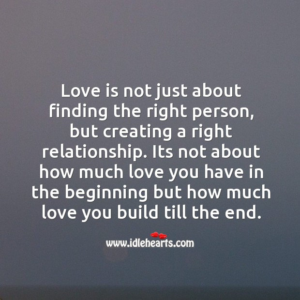 Image, Love is creating a right relationship.