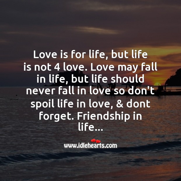 Love is for life Love Messages Image
