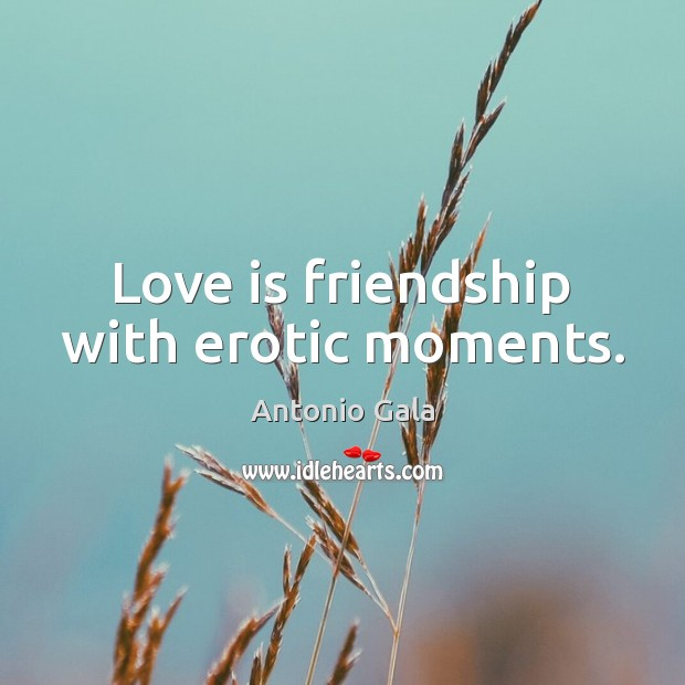 Image, Love is friendship with erotic moments.