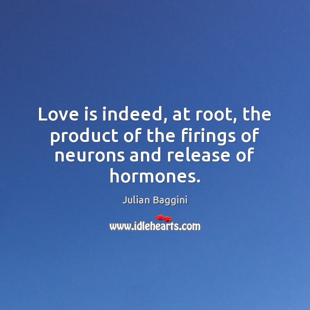 Love is indeed, at root, the product of the firings of neurons and release of hormones. Image