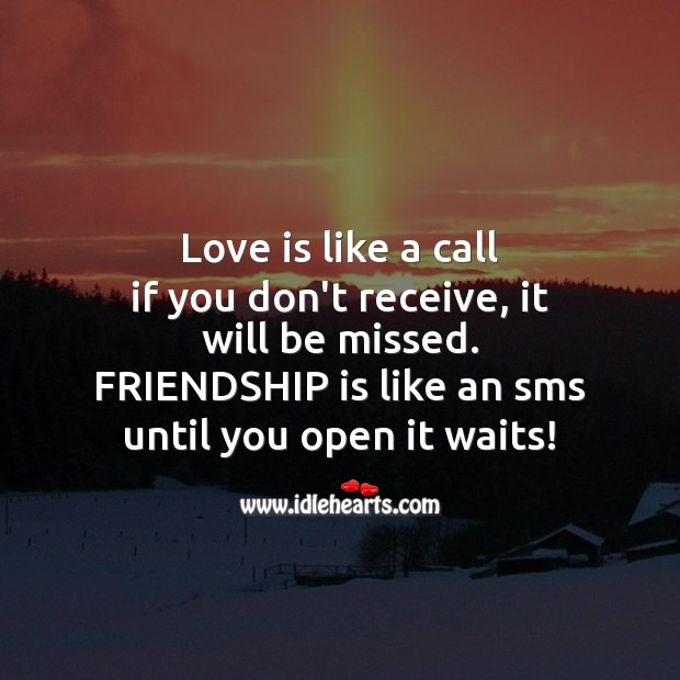 Love is like a call Image
