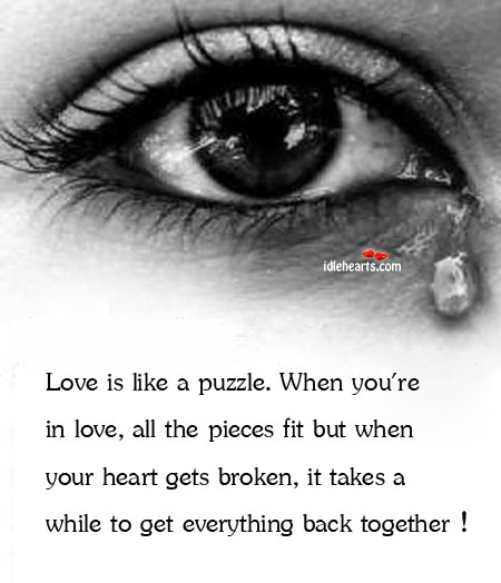 Image, Love is like a puzzle.