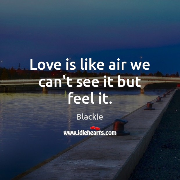 Image, Love is like air we can't see it but feel it.
