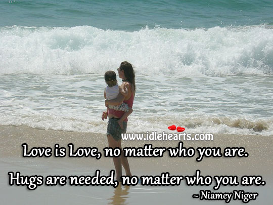Love is love, no matter who you are. Image