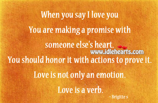 Image, Love is not only an emotion.