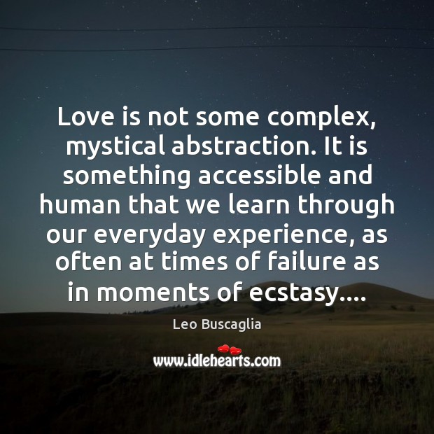 Image, Love is not some complex, mystical abstraction. It is something accessible and