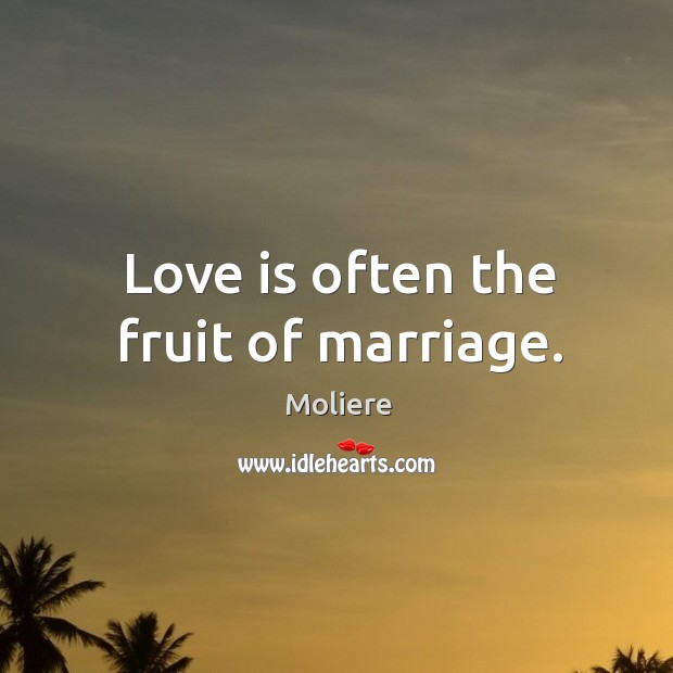 Love is often the fruit of marriage. Image