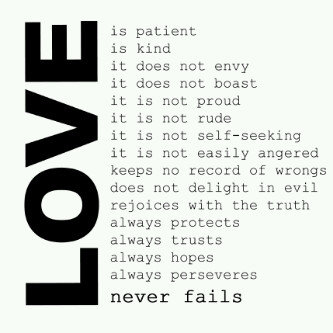 Image, Love is patient and kind. It does not