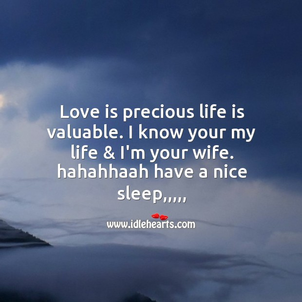 Image, Love is precious life is valuable.