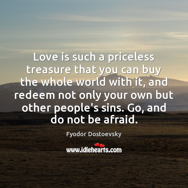 Love is such a priceless treasure that you can buy the whole Image