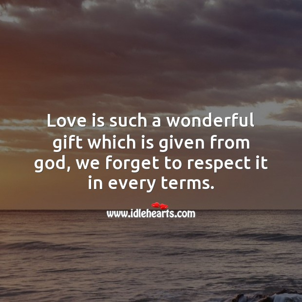 Love is such a wonderful gift Image