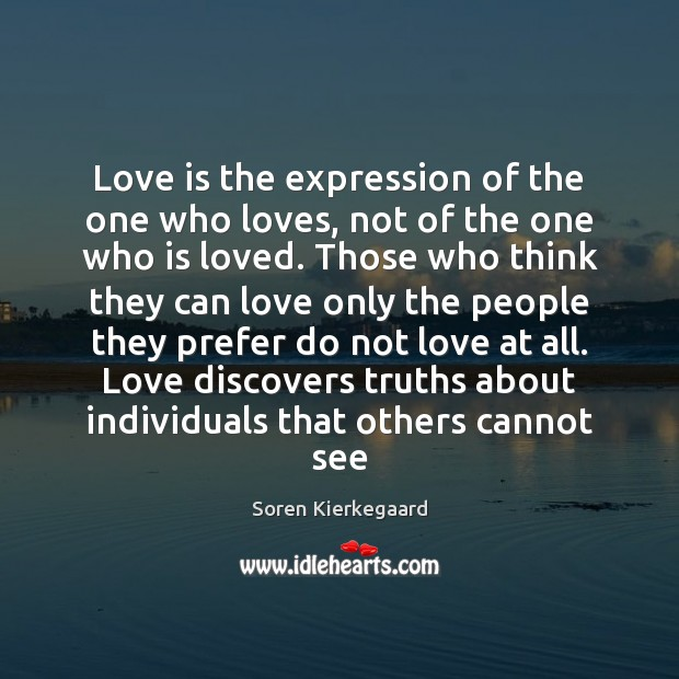 Love is the expression of the one who loves, not of the Image