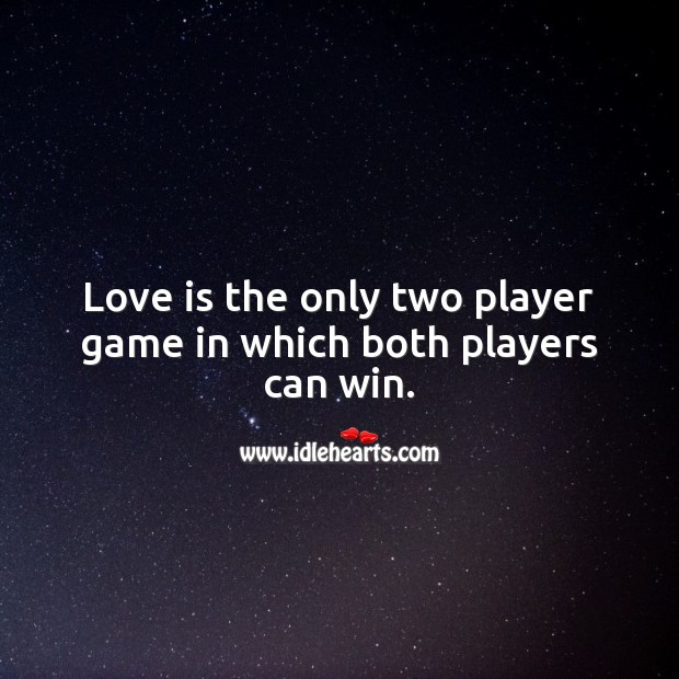 Image, Love is the only two player game in which both players can win.