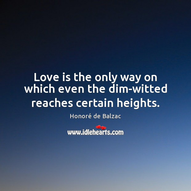 Image, Love is the only way on which even the dim-witted reaches certain heights.