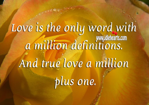 Image, Love has a million definitions