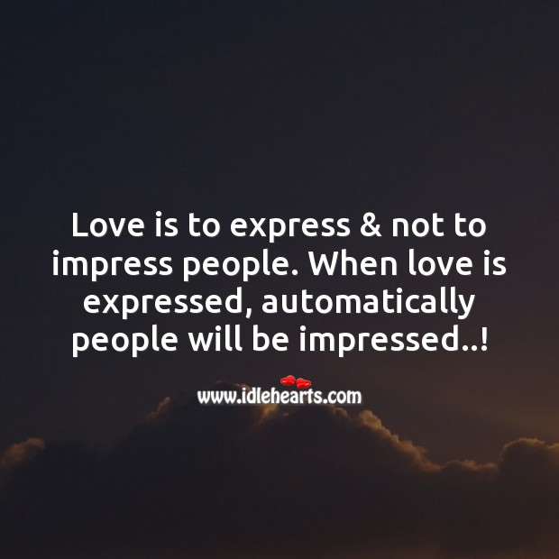 Love is to express Image