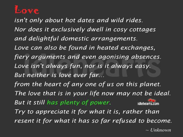 Image, Love has plenty of power