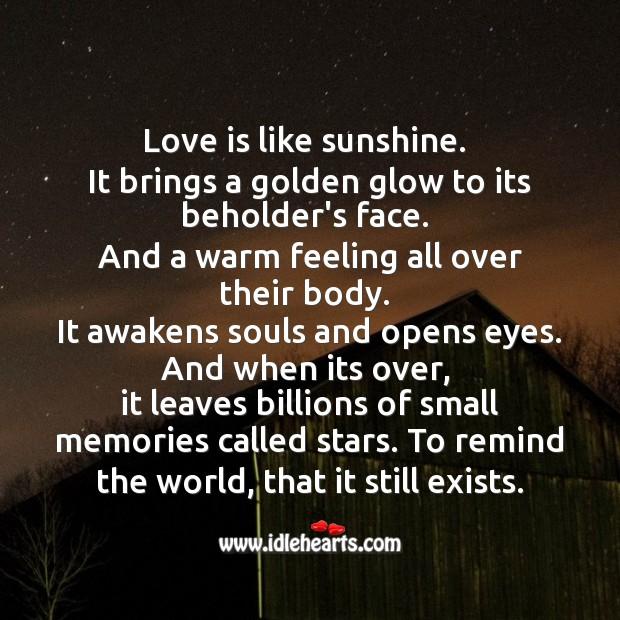 Love leaves billions of small memories Image
