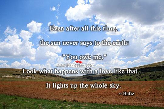 Love Lights Up The Whole Sky.