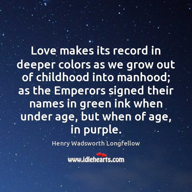 Image, Love makes its record in deeper colors as we grow out of