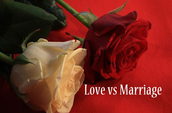 Difference between love and marriage Faith Quotes Image