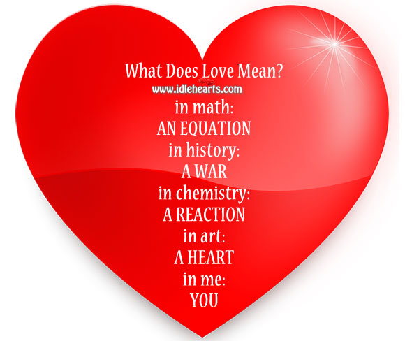 Image, What does love mean?