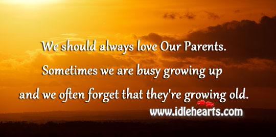 We Should Always Love Our Parents