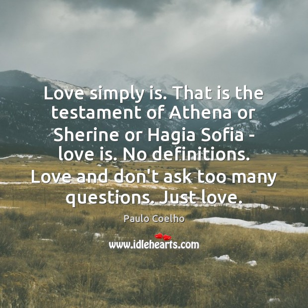 Image, Love simply is. That is the testament of Athena or Sherine or