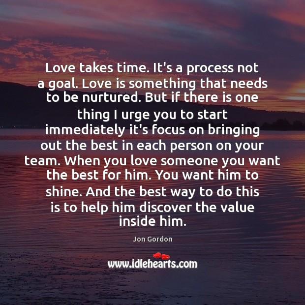 love needs to be nurtured