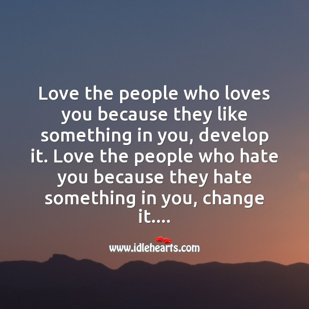 Image, Love the people who loves you