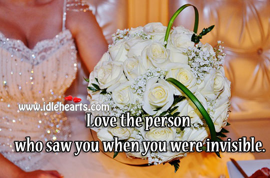Love the Person Who Saw You
