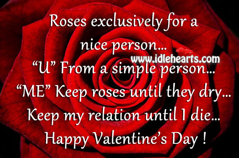 Keep Roses Until They Dry… and My Relation Until I Die