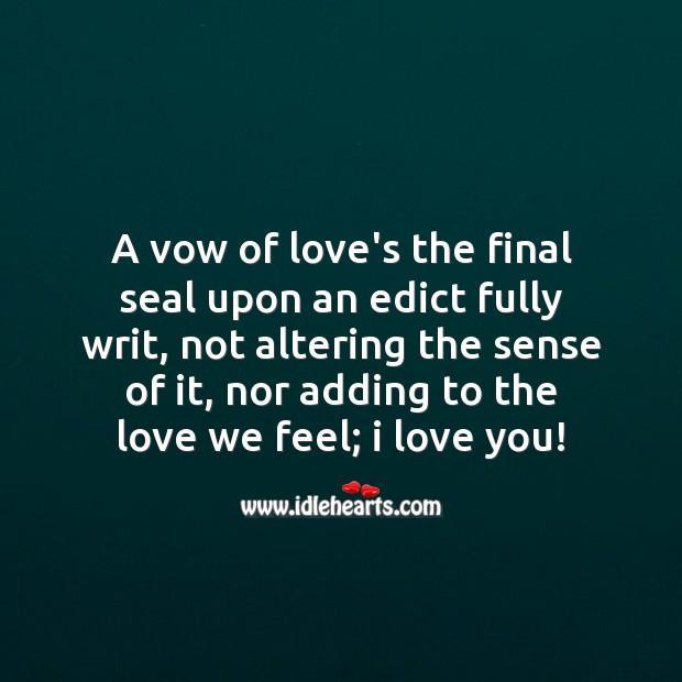 Image, Love we feel
