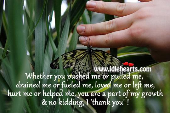 Image, You help me grow, I thank you!