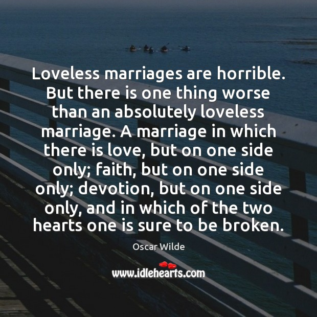 Image, Loveless marriages are horrible. But there is one thing worse than an
