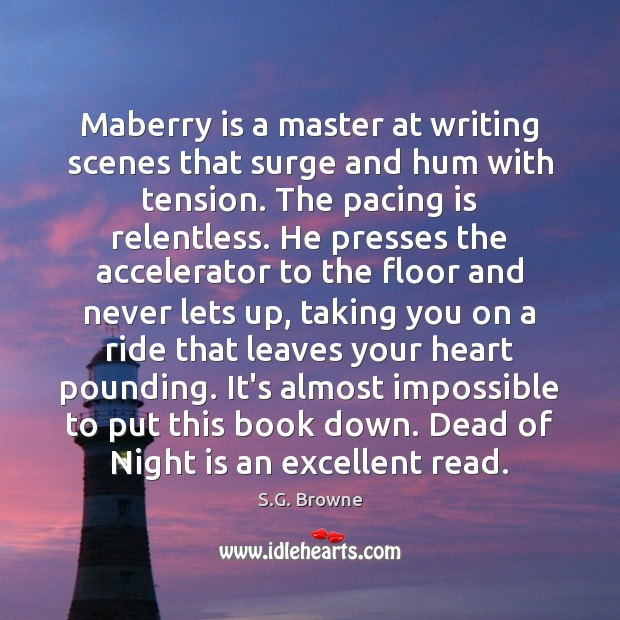 Image, Maberry is a master at writing scenes that surge and hum with
