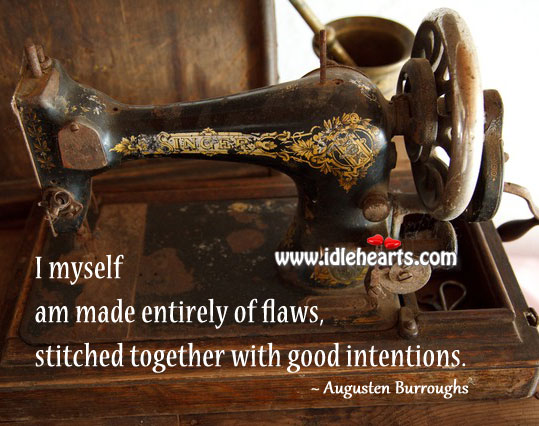 I Am Made Entirely of Flaws, Stitched Together With Good Intentions.