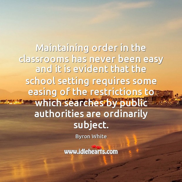 Image, Maintaining order in the classrooms has never been easy and it is