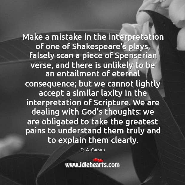 Make a mistake in the interpretation of one of Shakespeare's plays, Image