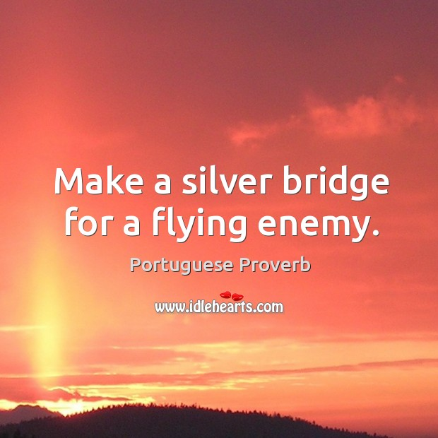 Make a silver bridge for a flying enemy. Image