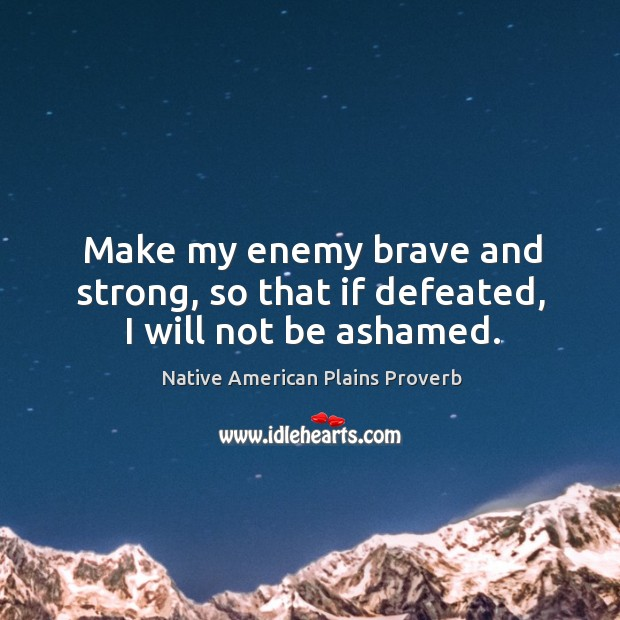 Native American Plains Proverbs