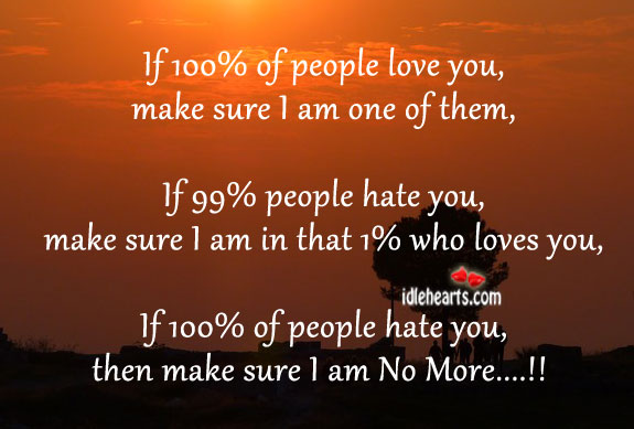 Then Make Sure I Am No More….!!