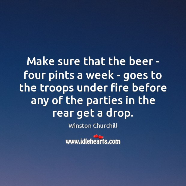 Make sure that the beer – four pints a week – goes Image