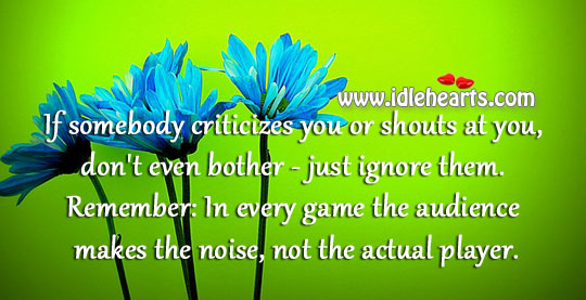 In Every Game The Audience Makes The Noise