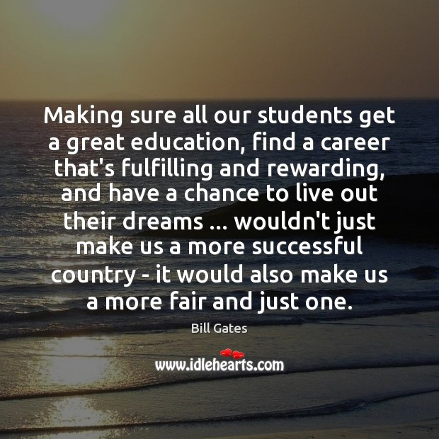 Making sure all our students get a great education, find a career Image