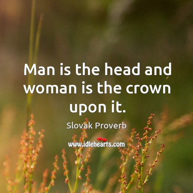 Image, Man is the head and woman is the crown upon it.