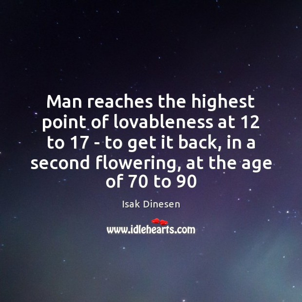 Man reaches the highest point of lovableness at 12 to 17 – to get Image